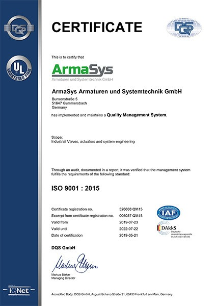 ISO Certificate 9001 english